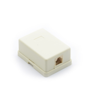 MT-5821 RJ11 Telephone Outlet Box Telephone Surface Box Single Dual Port