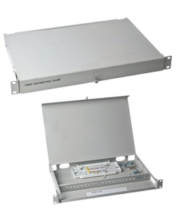 "MT-1007 19"" Clamshell Type SPCC 1U Fully Loaded 24 Port Terminal Box With SC LC UPC Adaptor And Pigtails"