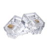MT-5051 Gold Plated 6P2C 6P4C RJ11 Male Connector Cat.3 Plug For Telephone Modulat Plug Registered Jack UTP