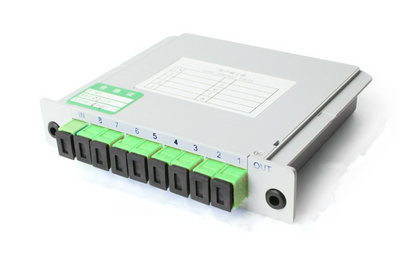 MT-1081-8 1:8 Insert Card Box Type PLC Splitter With SC APC/UPC Adaptor