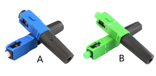 MT-1041-S SC Fast Connector SC/APC UPC Fast Drop Wire Optical Quick Connector for Covered Optical Cable