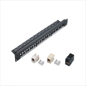 MT-4203 19 Inch 1U 24 Port Blank Empty Network Patch Panel with Cable Manager