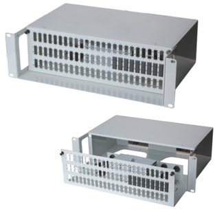 "MT-1014 Wholesale 19"" Rack Mount Type Metal 3U Fully Loaded 72 Port ODF And SC LC FC ST Adapter With Cable Manager"
