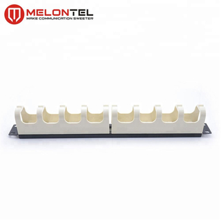 MT-4417 1U 19 Inch Type White Plastic Cable Manager Management Horizontal Cable Organizer